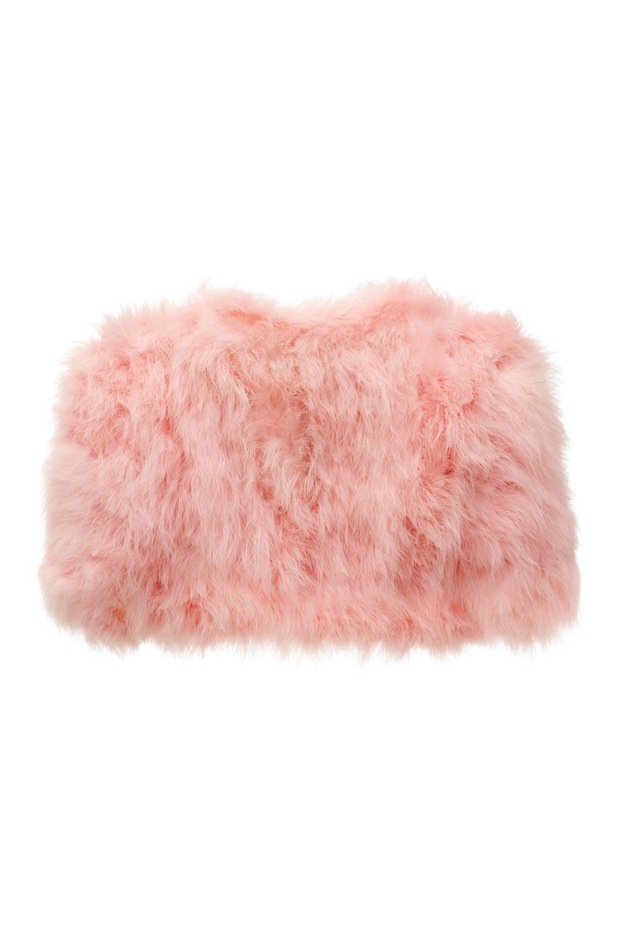 1950s Pink Maribou feather Bolero 2