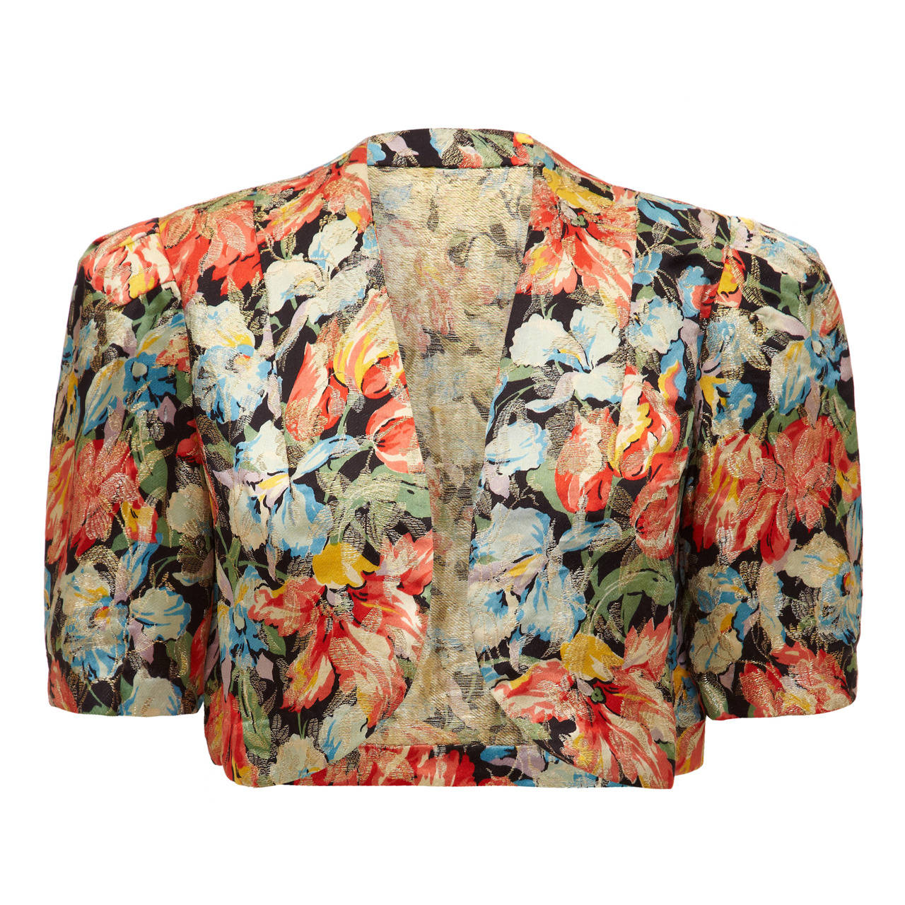 1930s Floral Lame Jacket For Sale