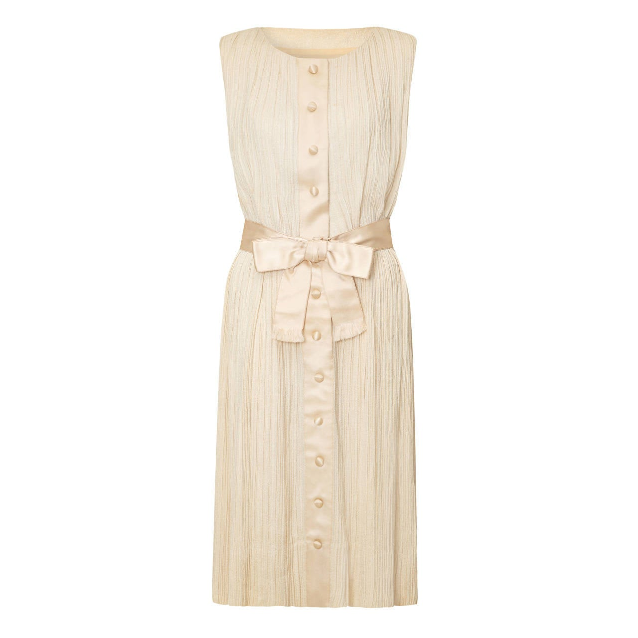 1960s Sarmi Cream Silk Dress