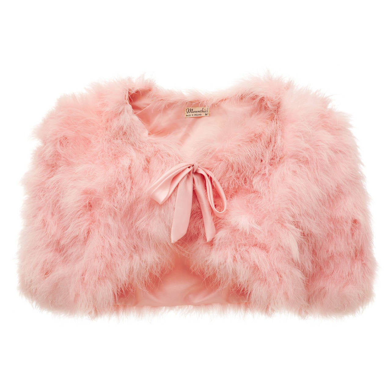 1950s Pink Maribou feather Bolero 1