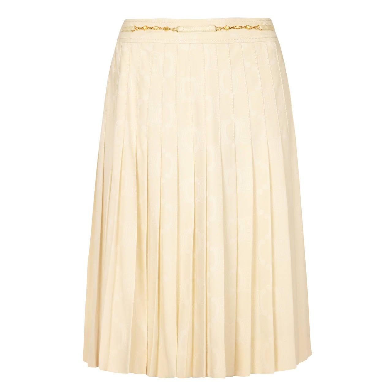 Cream Pleated Skirt 76