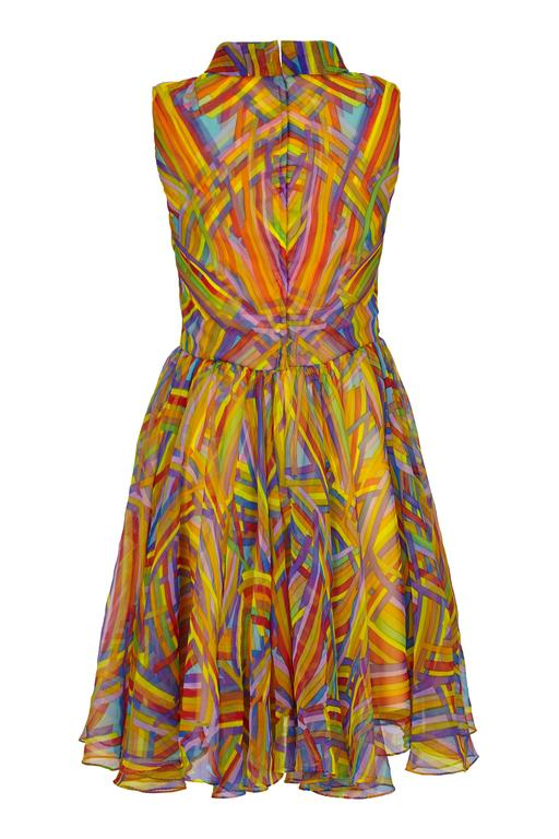1960s Jack Bryan Multi-coloured Chiffon Dress 2