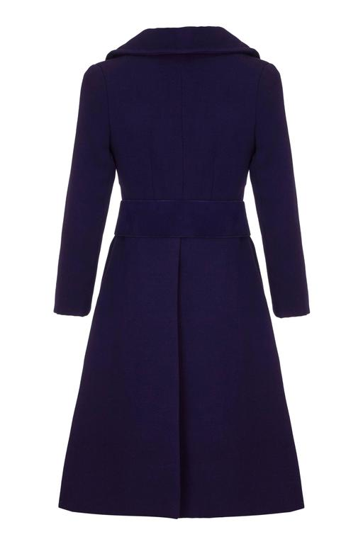 1960s Haute Couture Space Age Purple Wool Coat  2