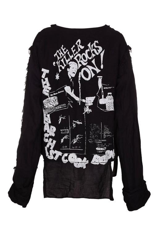 "Extremely Rare 1980 BOY ""Vive Le Rock"" Seditionaries Long Sleeve Punk T-Shirt 2"
