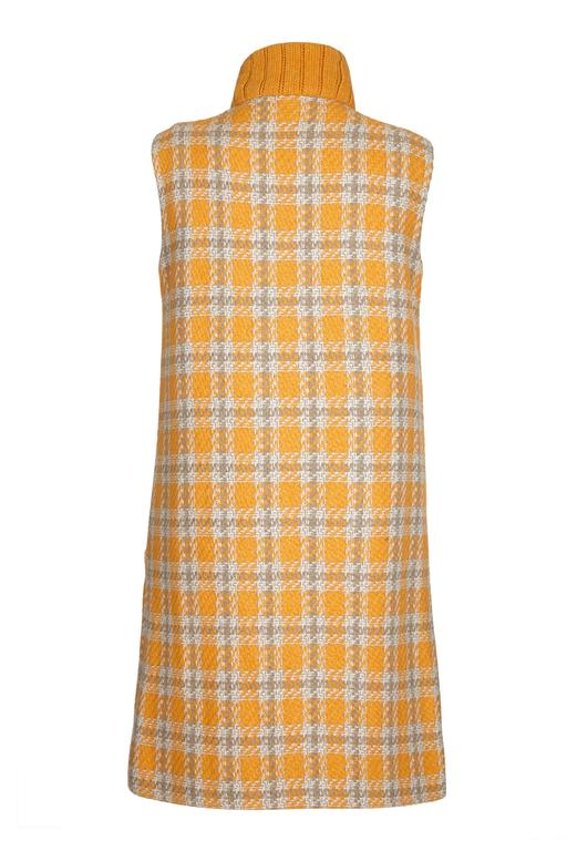 Rare Clive of London Couture Label 1960s Mod Wool Tweed Dress 2