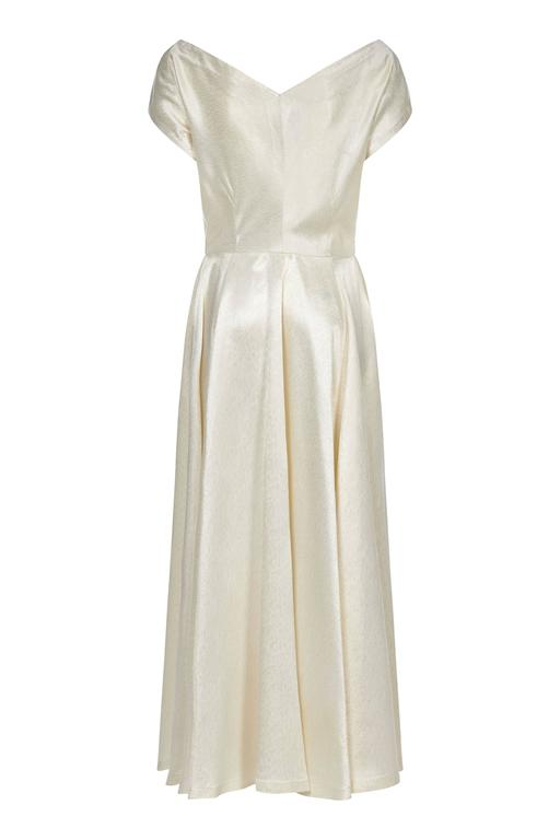 Late 1940s Silk French Couture Wedding Dress 2