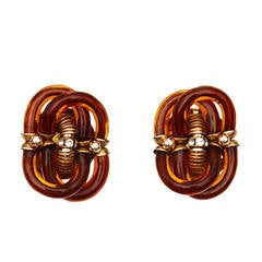 1970s Archimede Seguso for Chanel Murano Glass Earrings