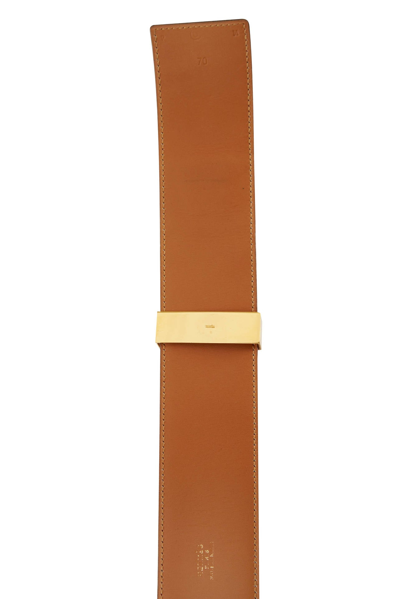 1980s Red Hermès Collier de Chien Leather Belt Size 70 In Excellent Condition For Sale In London, GB