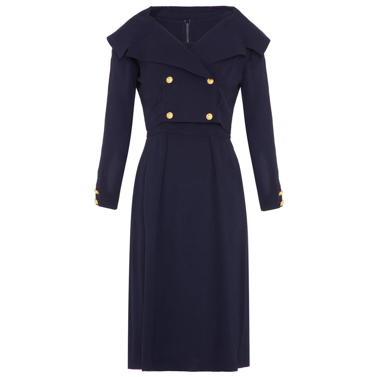 1960s Mr Mort Navy Dress and Jacket Suit For Sale
