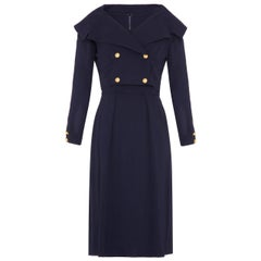 1960s Mr Mort Navy Dress and Jacket Suit
