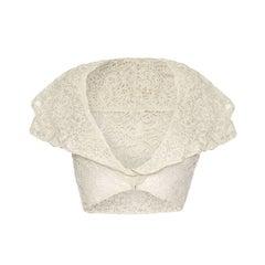 1930's Cropped White Lace Jacket