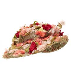 1950s Large Floral Schiaparelli Hat