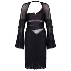 F/W 2004 Tom Ford for Gucci Black Catwalk Dress
