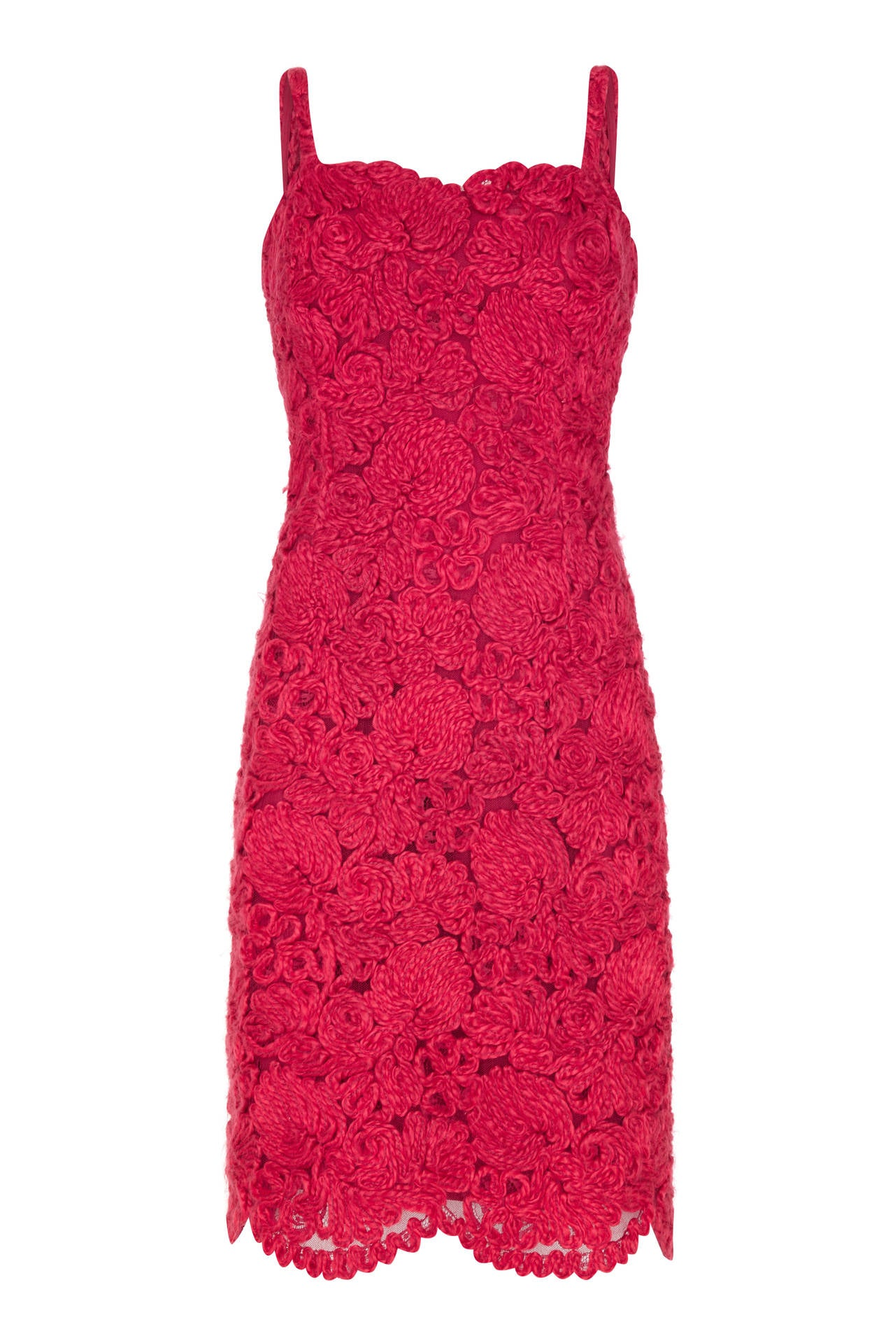1960s french couture red wool applique dress suit at 1stdibs for French couture dresses