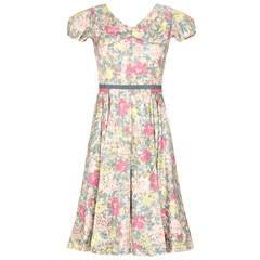 1950s Jane Derby Floral Dress
