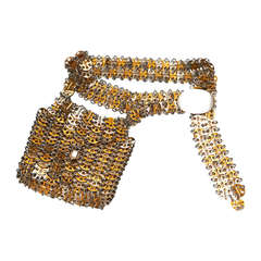 1960's Paco Rabanne belt with bag