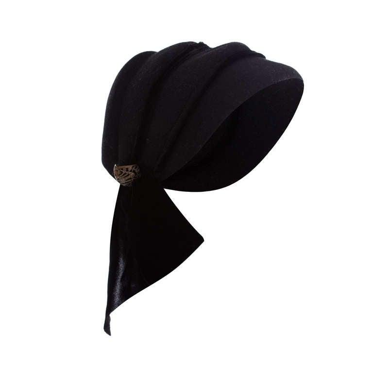 1930s Black Felt Hat For Sale