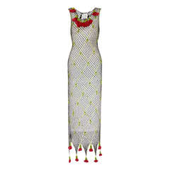 1990's Moschino Cheap and Chic Crochet Roses Dress