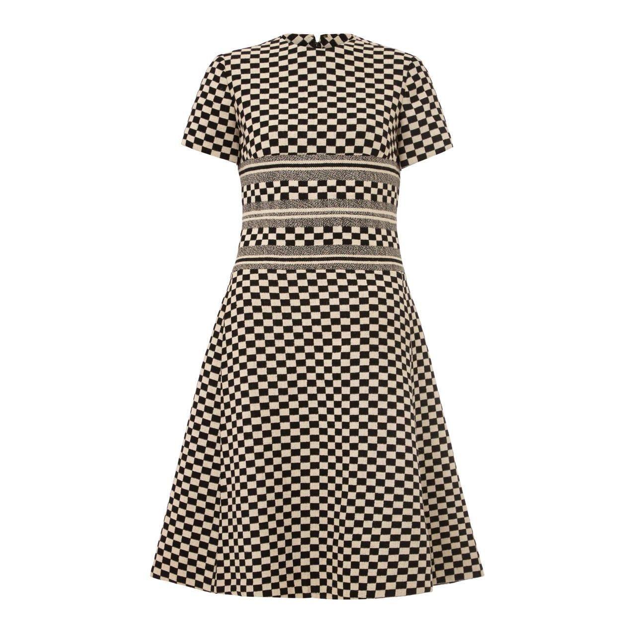 1960s christian dior monochrome checked mod dress for Dior couture dress price