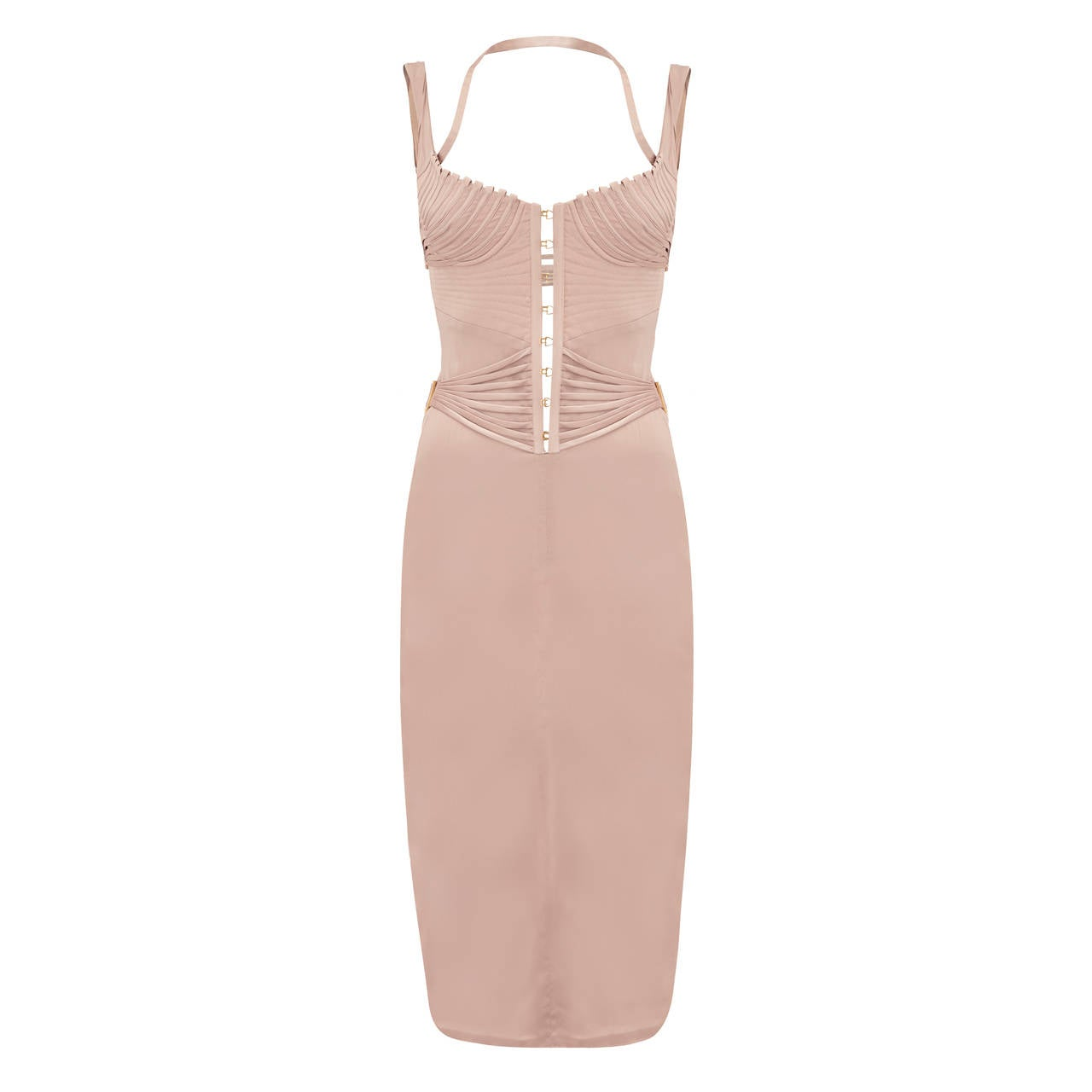 2003 Tom Ford for Gucci Lilac Satin Corset Dress For Sale