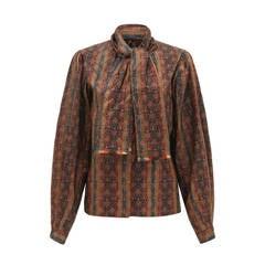 1970s Oscar de la Renta Silk Shirt