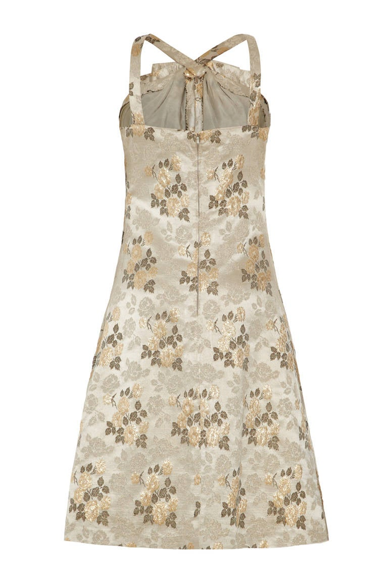 1960s french couture floral brocade dress suit for sale at for French couture