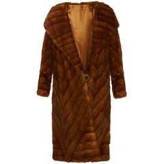 1920s Rare Ermine Flapper Coat