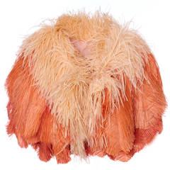 1950s Peach Ostrich Feather Boa