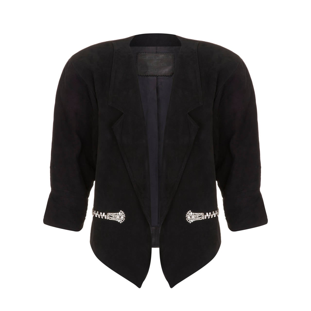 1980s Claude Montana Black Suede Jacket