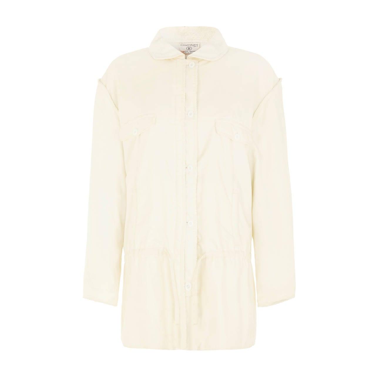 1970s Courreges White Sports Jacket