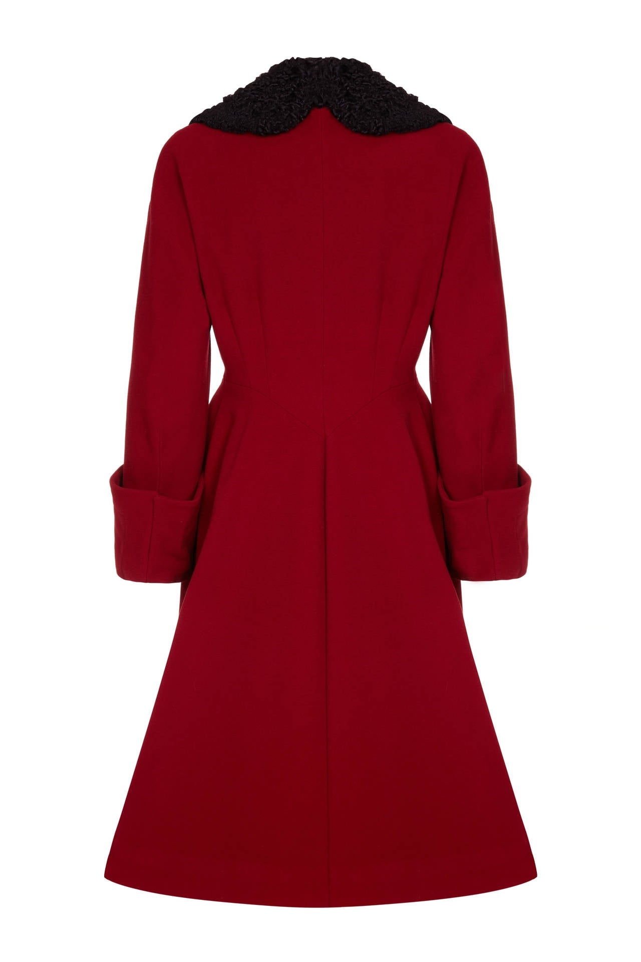 1940s Red Wool Coat 2