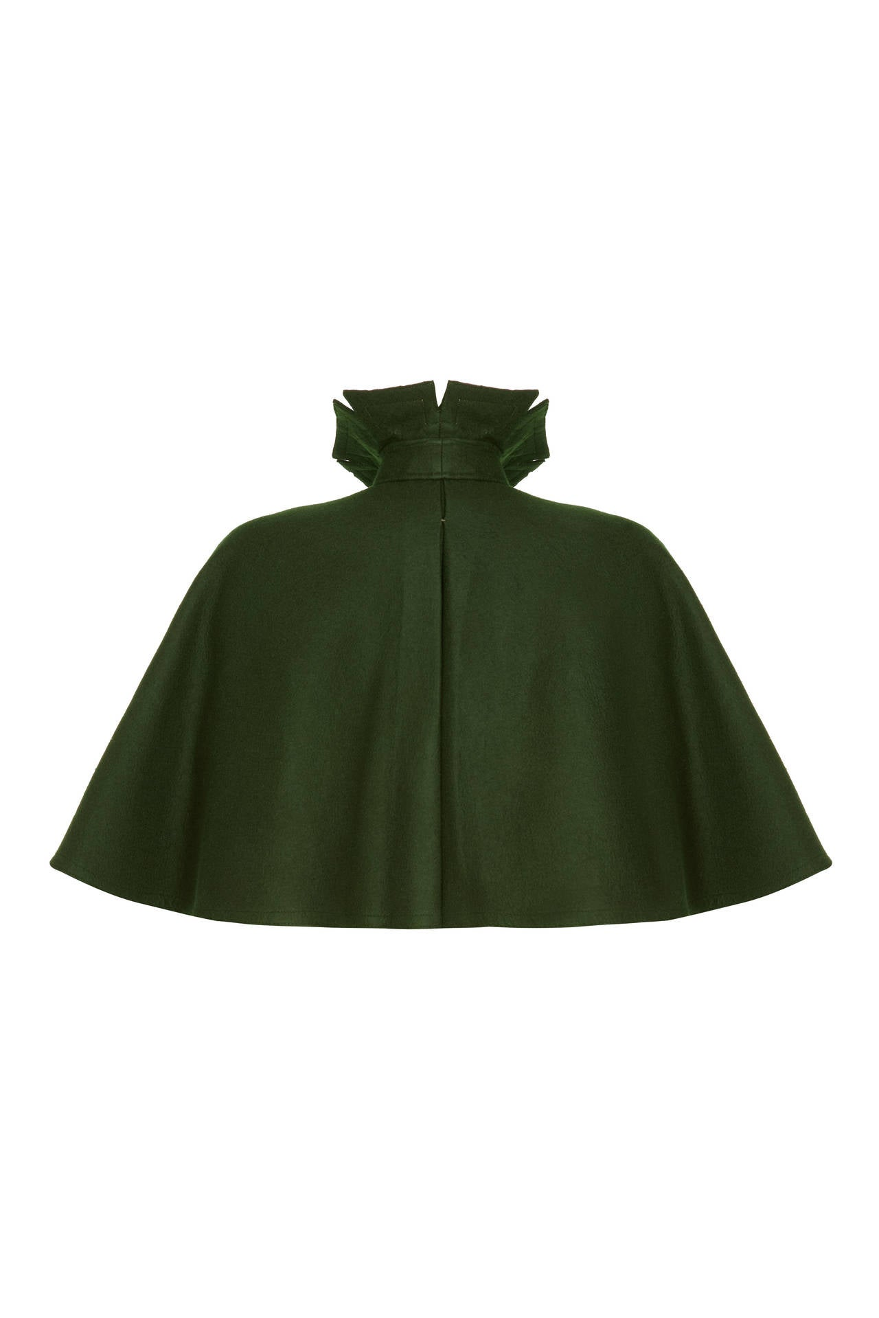Victorian Green Felt Wool Cape 2