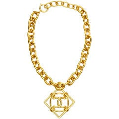1990s Chanel Double C Necklace