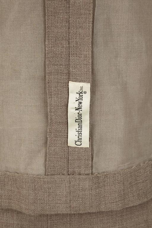 1960s Grey Christian Dior New York Dress Suit In Excellent Condition For Sale In London, GB