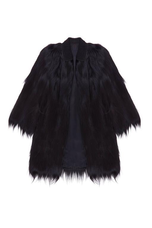 1940s Colobus Monkey Black Fur Coat At 1stdibs