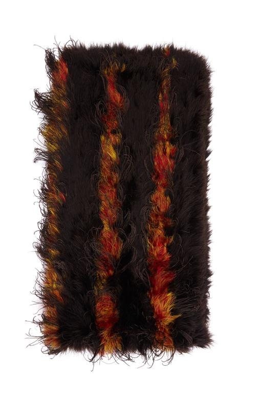 Black 1930s Maribou Feather Stole For Sale