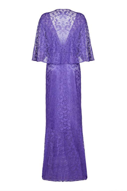 1930s Purple Lace Dress with Caplet  2