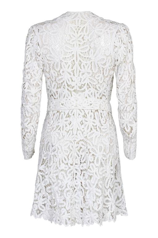 1910s Antique White Battenburg or Princess Tape Lace Bridal Dress Jacket 2
