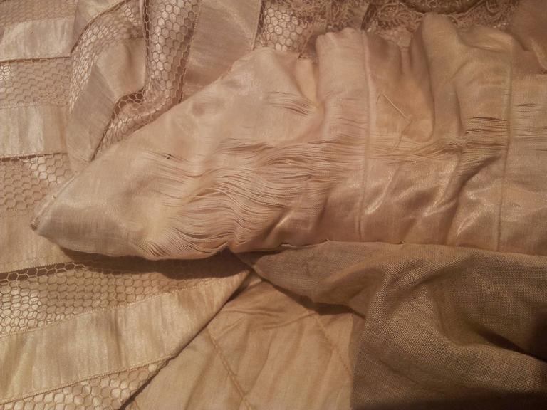 Victorian Cream Silk Cape 4