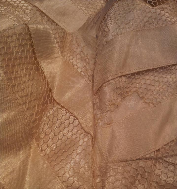 Victorian Cream Silk Cape 5