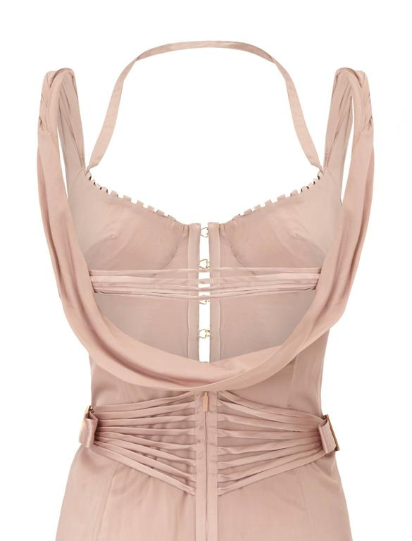 Beige 2003 Tom Ford for Gucci Lilac Satin Corset Dress For Sale