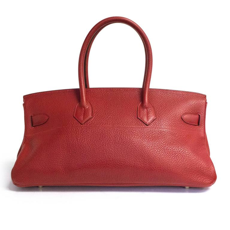 Red Hermes Shoulder Birkin - Rare For Sale
