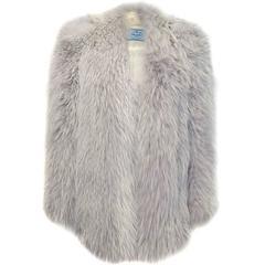 Prada Blue Fox Fur Coat