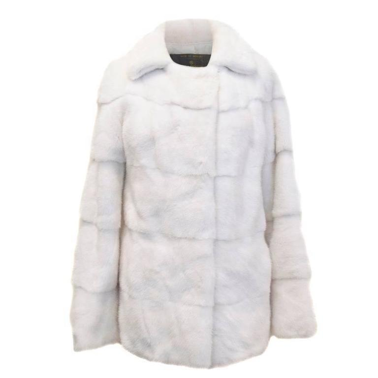 Lilly e Violetta White Natural Mink Fur Coat 3