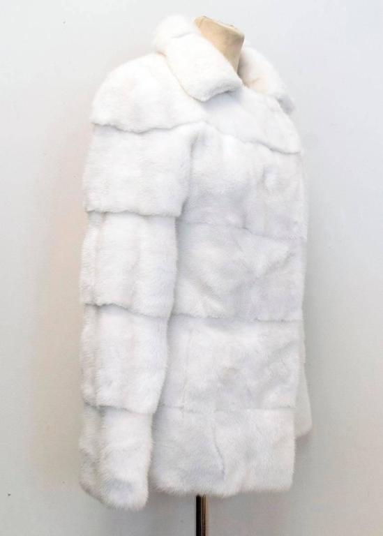 Lilly e Violetta White Natural Mink Fur Coat 6