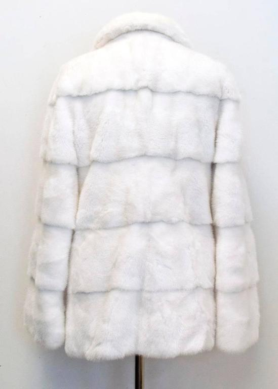 Lilly e Violetta White Natural Mink Fur Coat 5