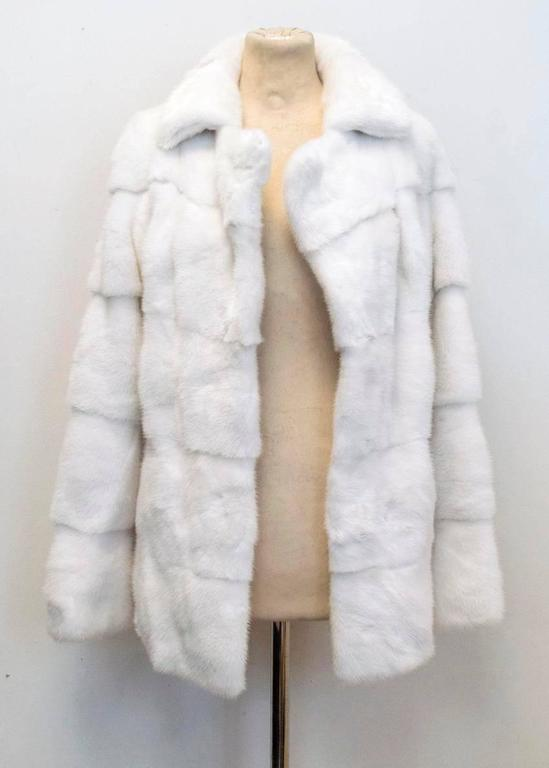 Lilly e Violetta White Natural Mink Fur Coat 7