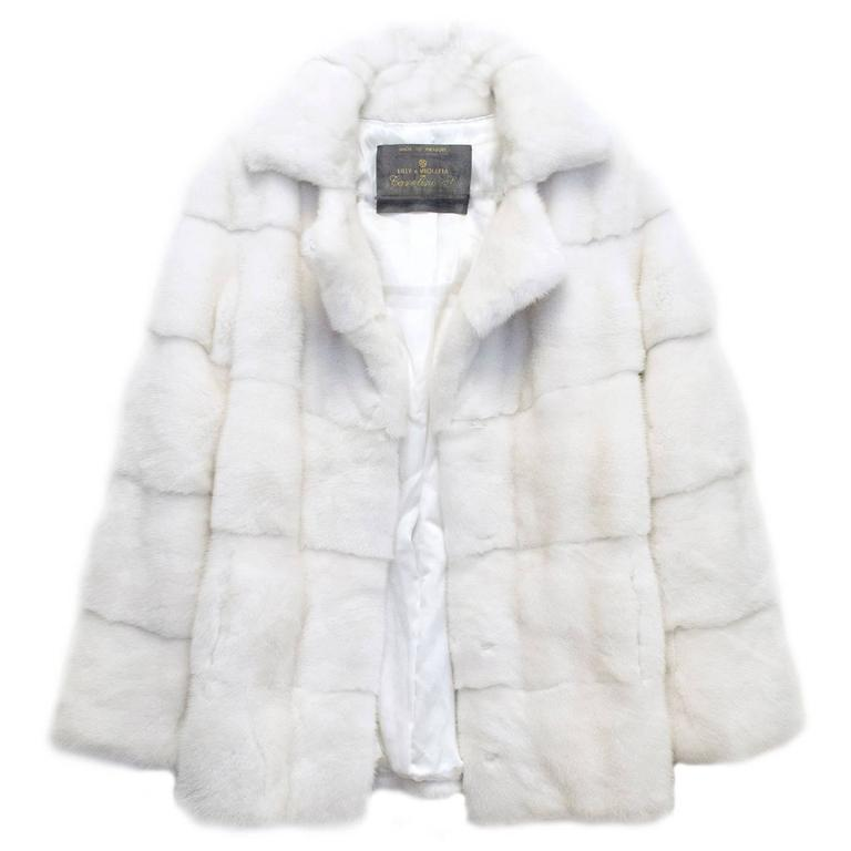 Lilly e Violetta White Natural Mink Fur Coat 1