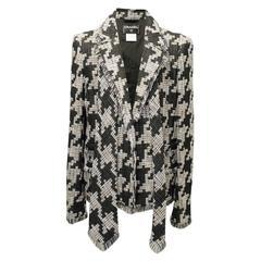 Chanel Men's Black & White Tweed Coat With Matching Tie