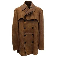 Bottega Veneta Mens Sheep Skin Suede Mocha Jacket